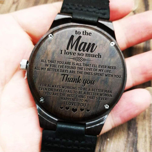 To The Man I Love So Much - Wood Watch - WH-DF20B246