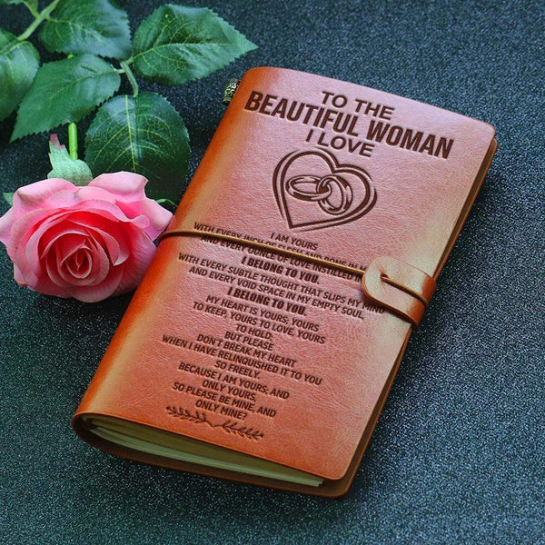 To The Woman I Love - Beautiful Leather Journal - 06