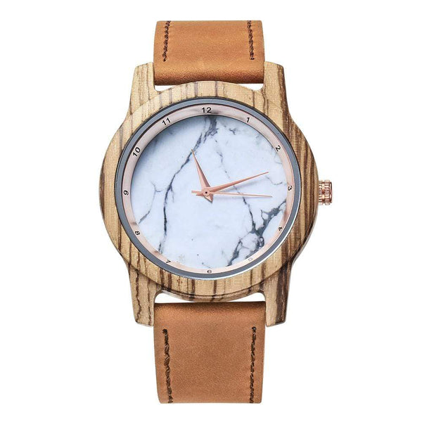 Vanilla Rose Wood Watch - WH-DF25 - Personalized Message