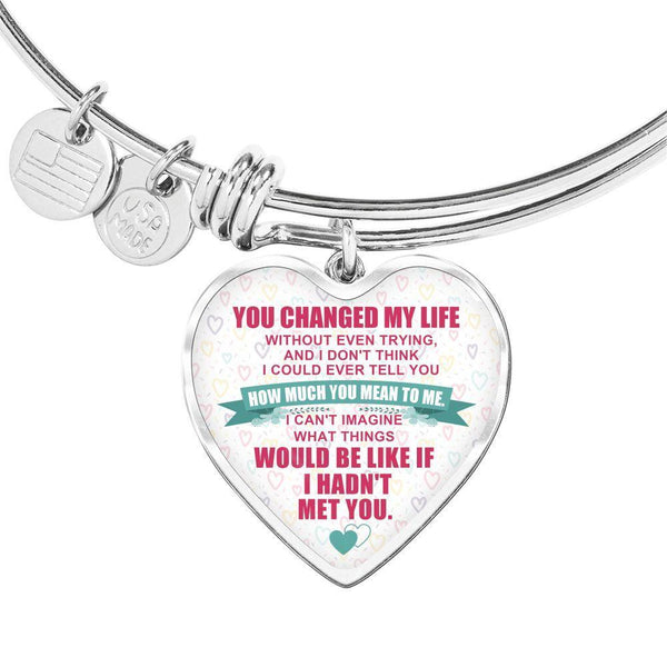 You Changed My Life - Heart Bangle - FBHD20