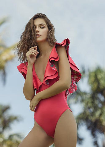 Alex charm red one piece