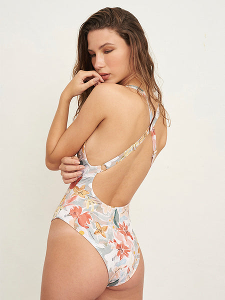 Carlotta Foliage Print One Piece