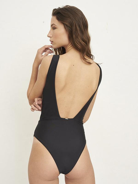 Chill Out Solid Black One Piece