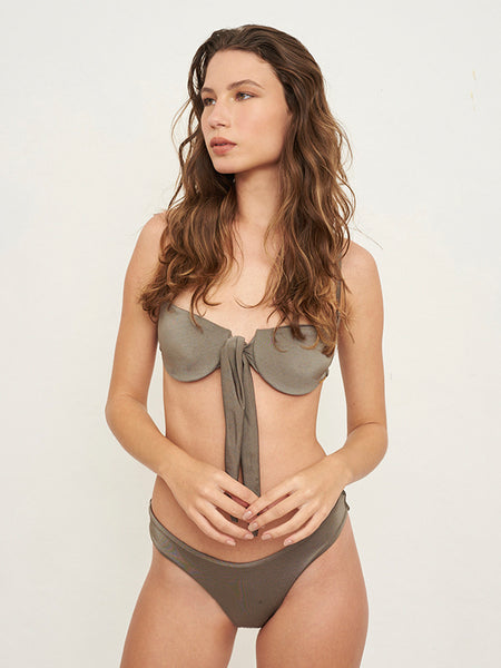 Connect Underwire Solid Verdant Top