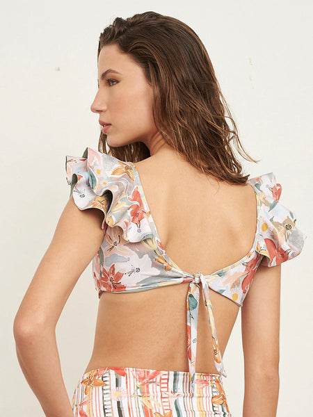 Fanny Foliage Print Top
