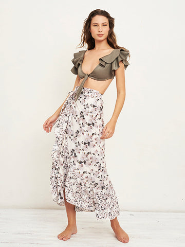 Coco Orchid Print Skirt