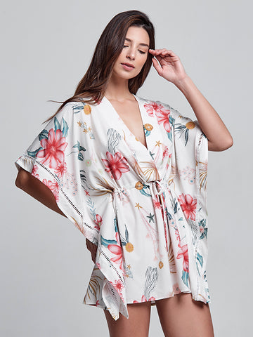 Honore Ivory Floral Kimono