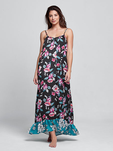 Melly Fruity Flowers Long Dress