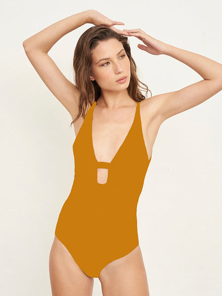 Mina Solid Butter One piece