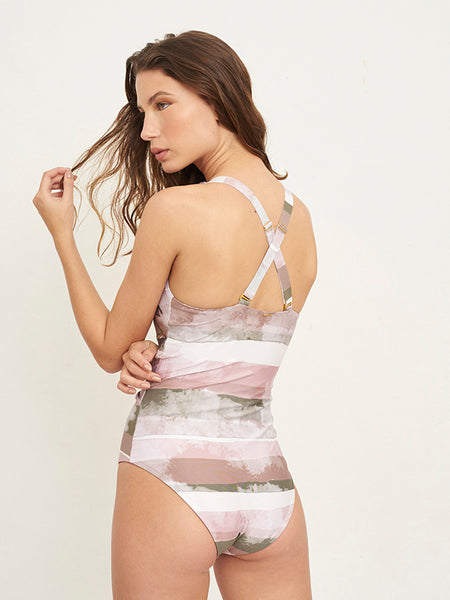 Nomade Striped Print One Piece