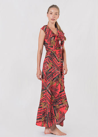 Noor Floral Scarf Dress