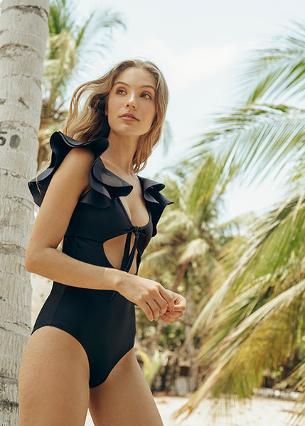 Odette  Black One Piece