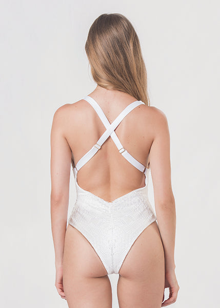 Samba Texture White One Piece