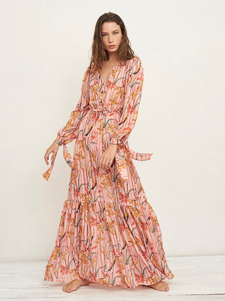 Zain primrose Print Long Dress