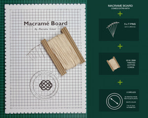 Large Macrame Board by Macrame School KIT for your projects.