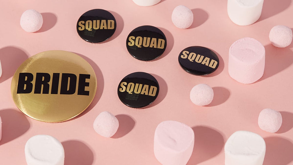 Metallic Hen Party Squad Badges