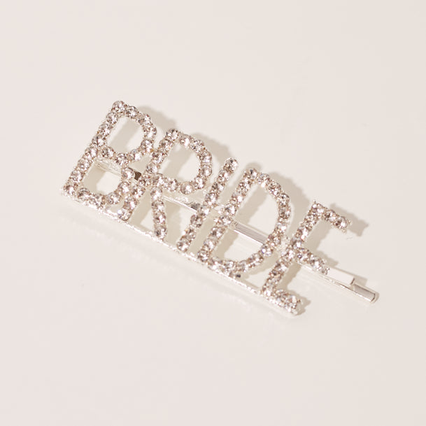 BRIDE Diamanté Silver Hair Slide