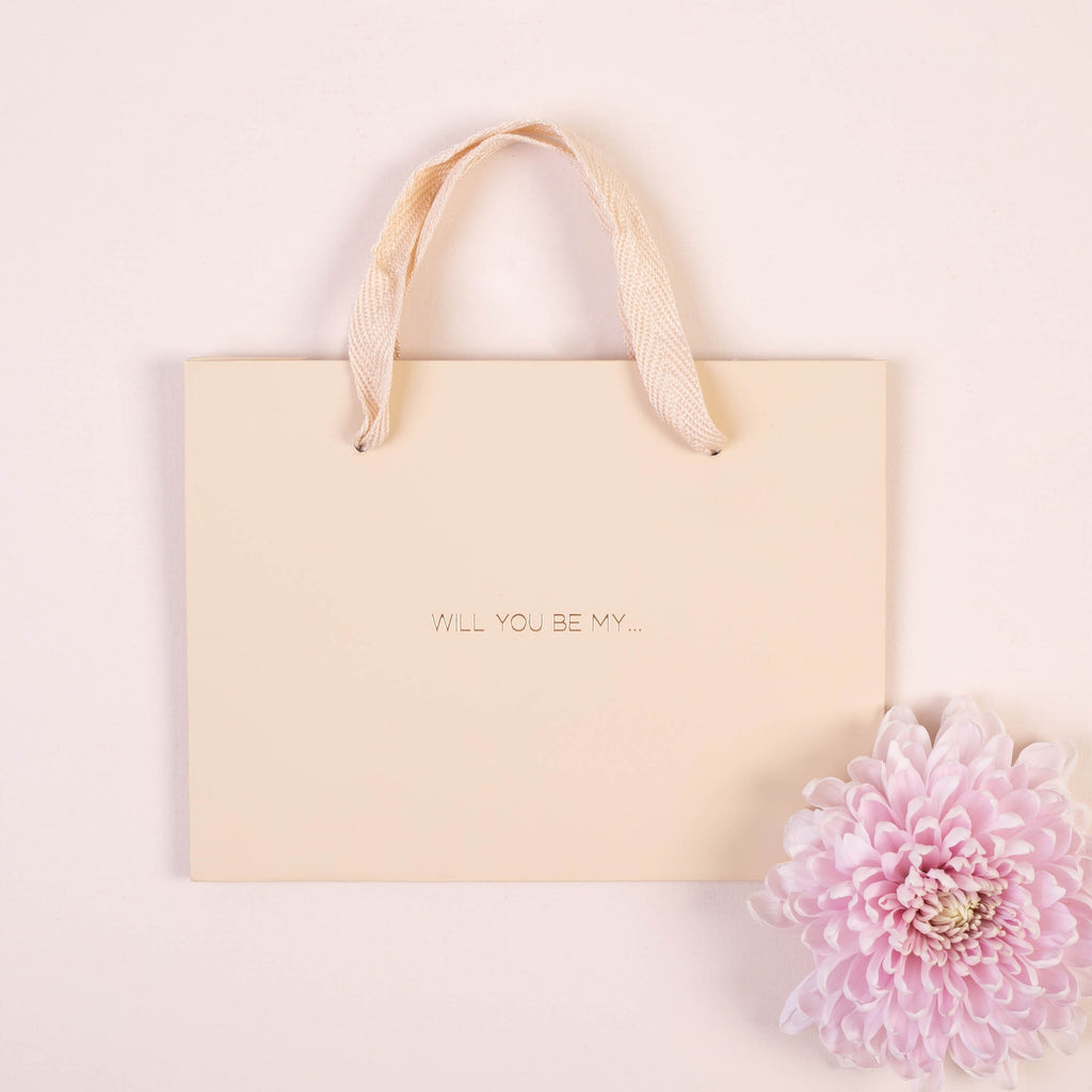 Will you Be My Luxury Gold Foil Gift Bag