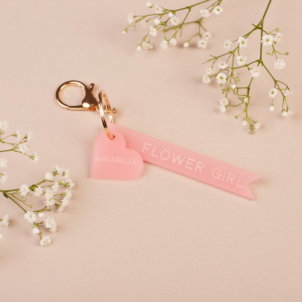 Personalised Flower Girl Keyring