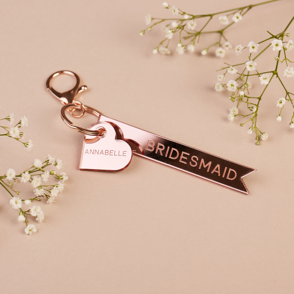 Personalised Mother of the Bride Keyring