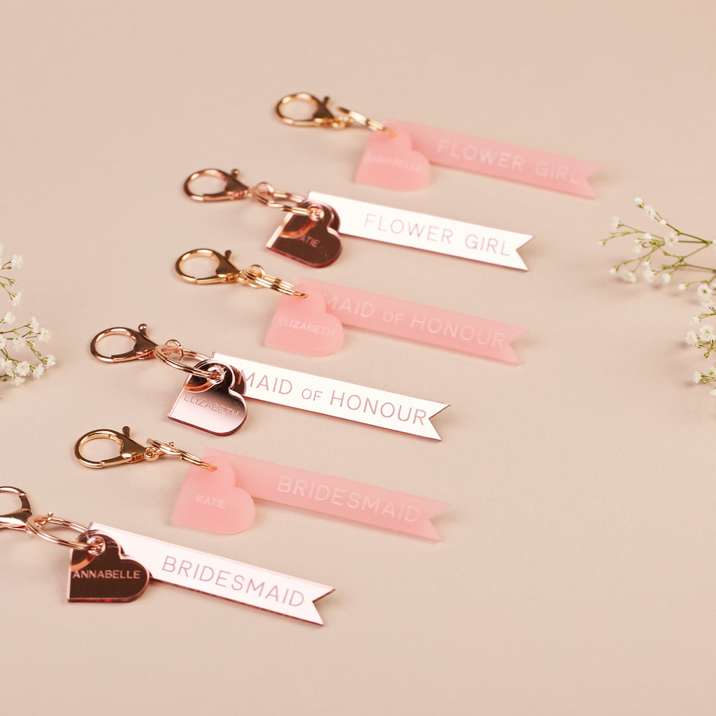 Personalised Maid of Honour Keyring
