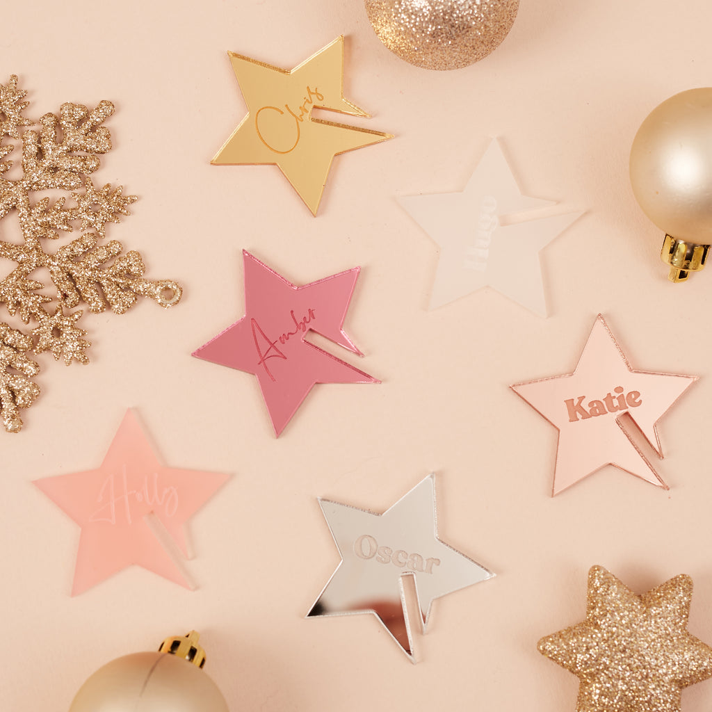Personalised Christmas Star Cocktail Charms