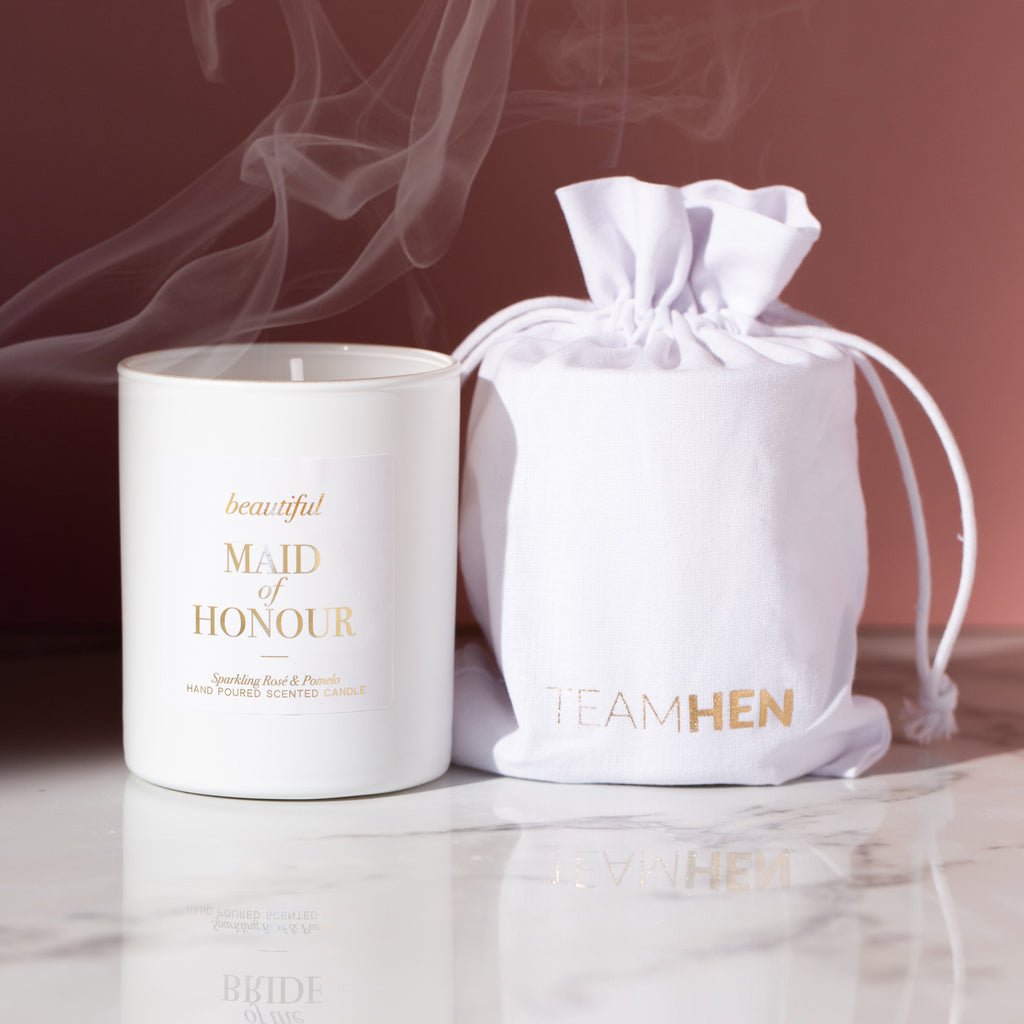 Beautiful Maid of Honour Luxury Candle | Thank You Maid of Honour