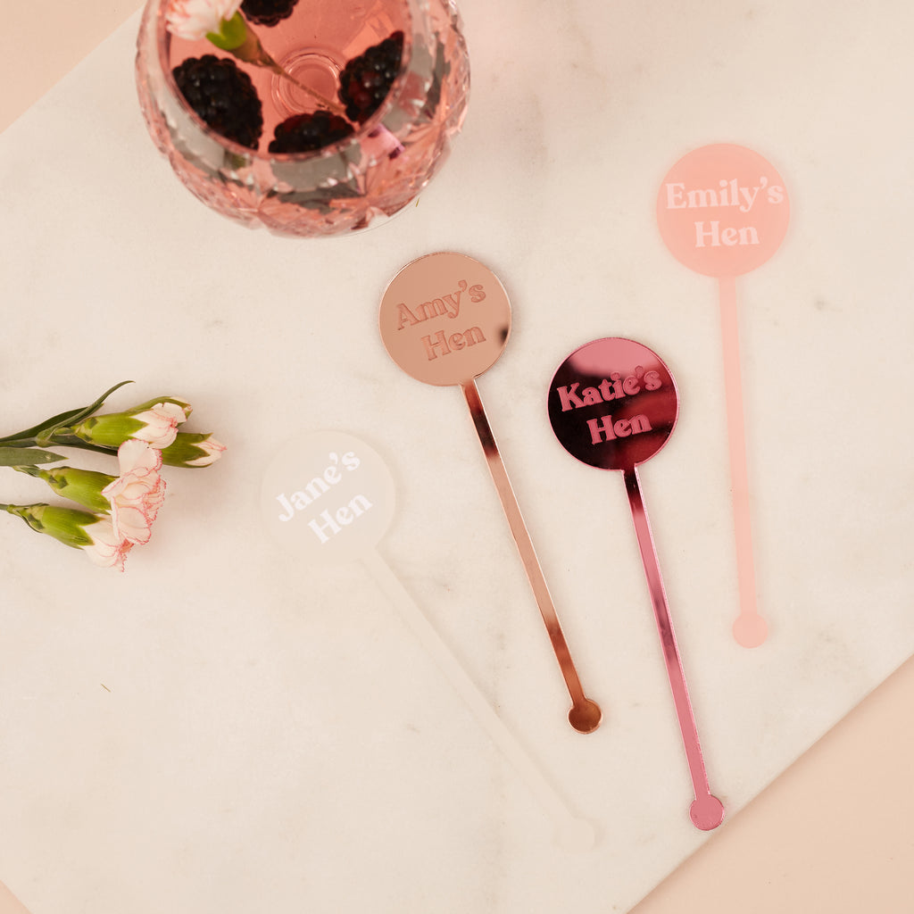 Personalised Hen Party Cocktail Stirrers