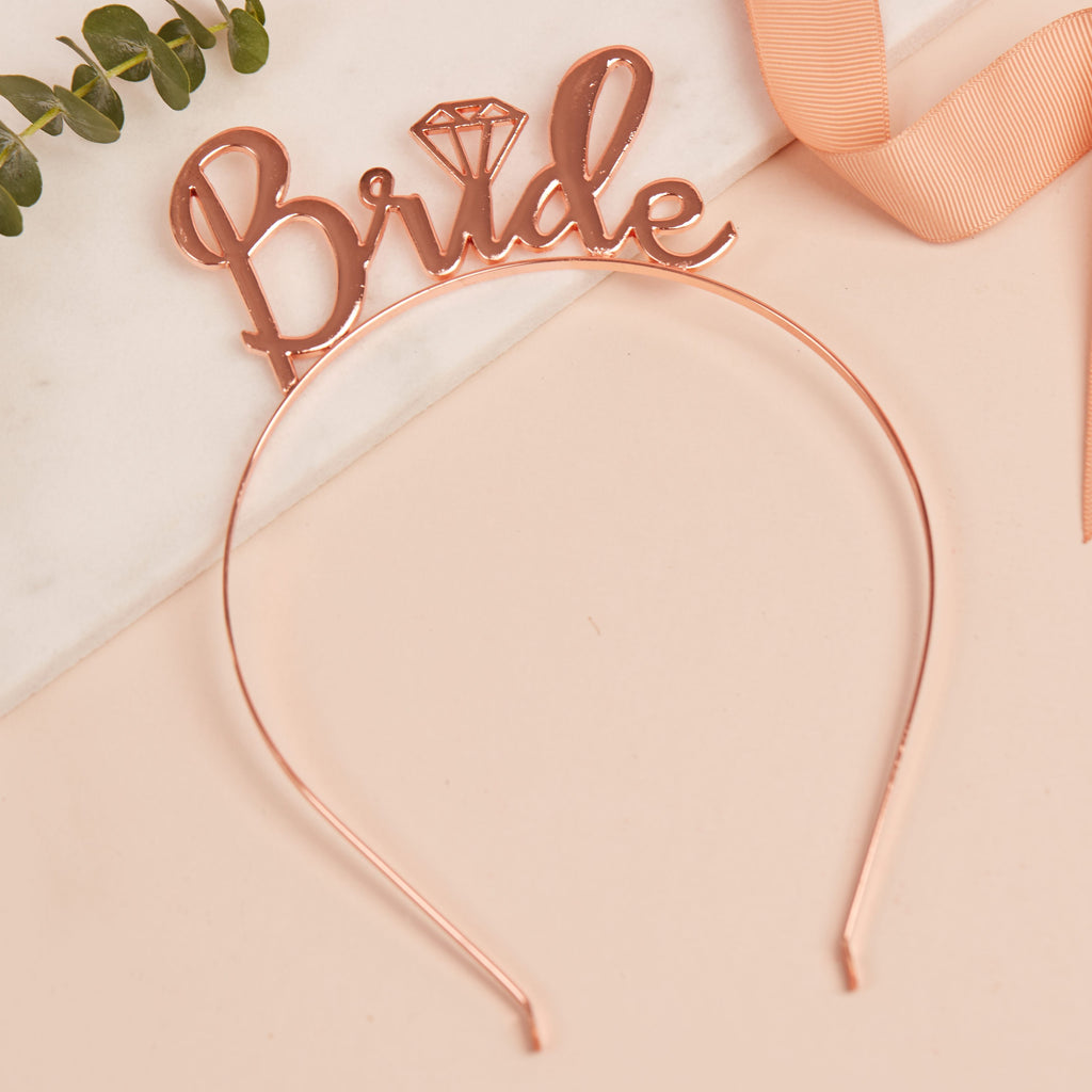 Bride Diamond Headband | Bride to Be Gifts - Team Hen