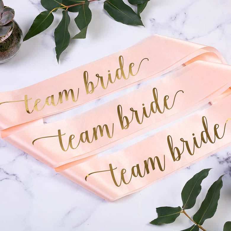 Team Bride Hen Party Satin Sash