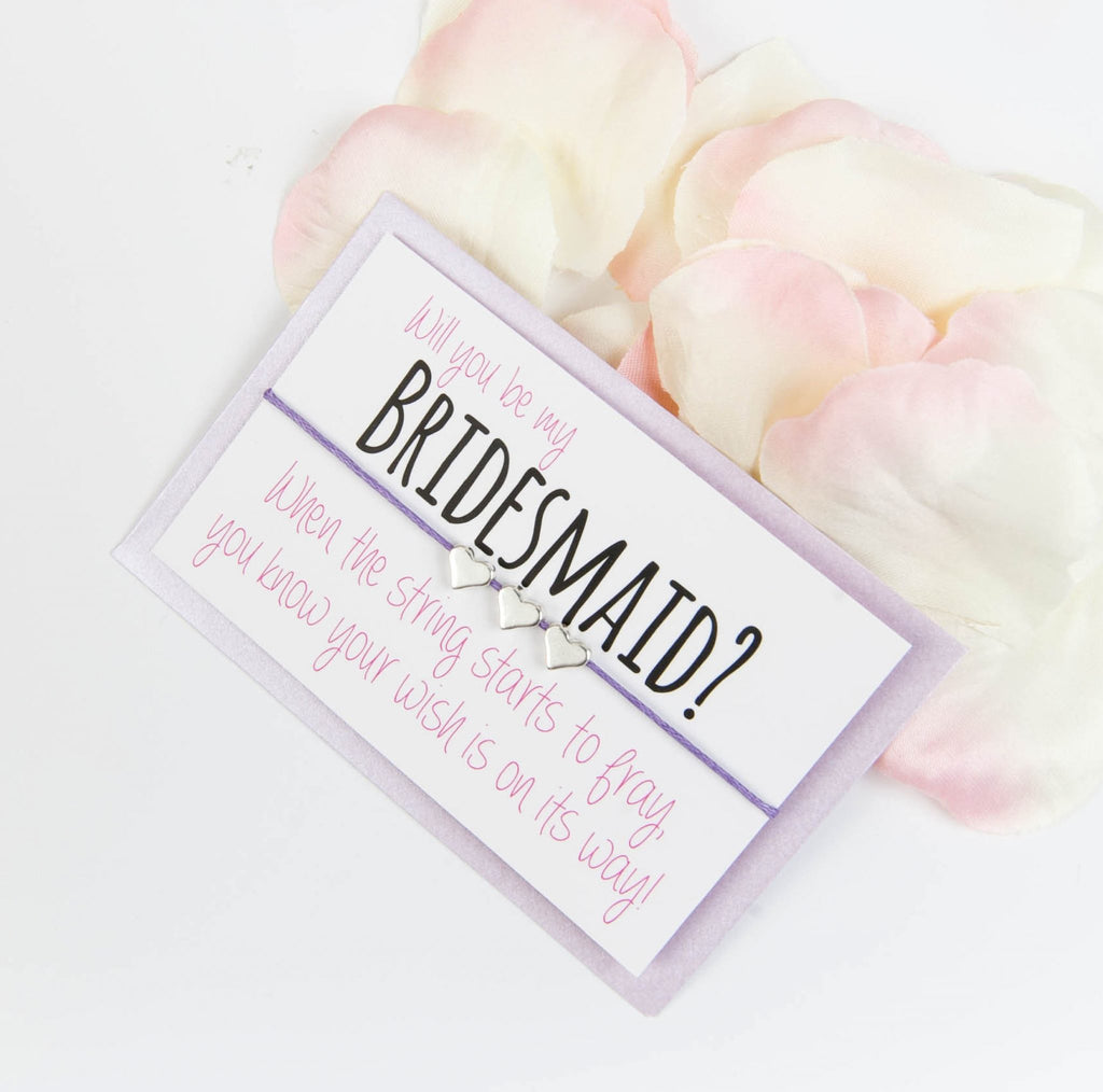 LAVENDER bridesmaid wish bracelet