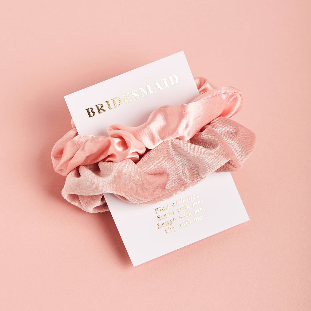 Flower Girl Scrunchie Duo | Flower Girl Gifts - Team Hen