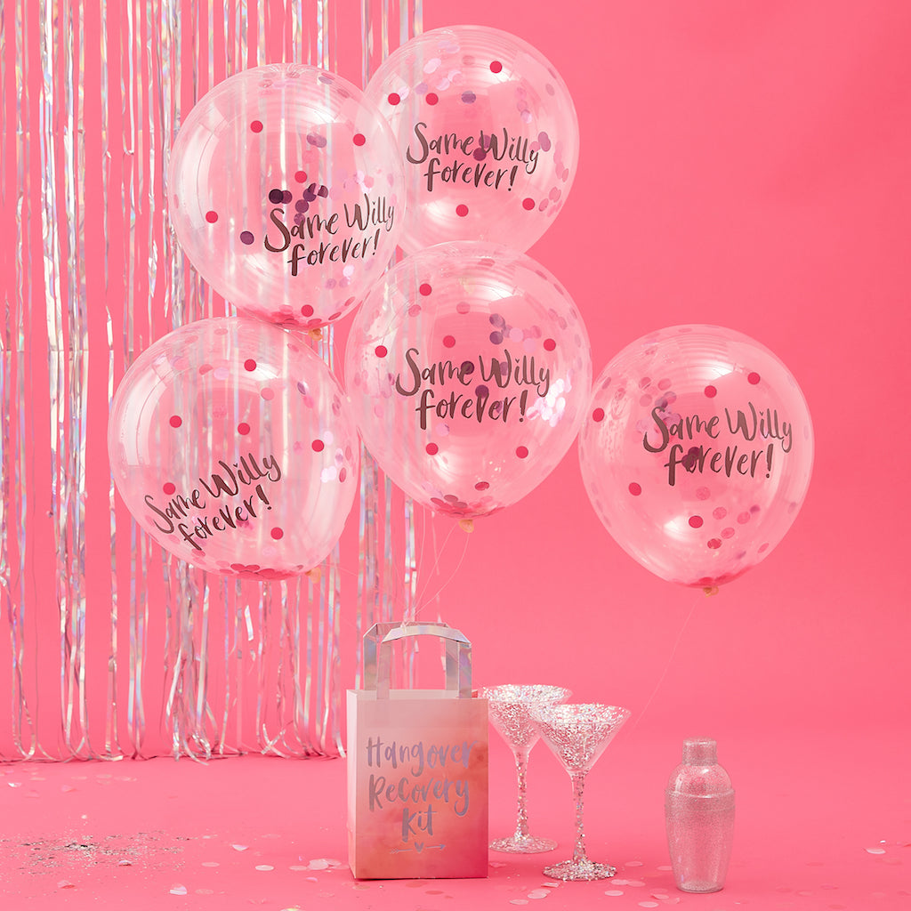 Same Willy Forever Confetti Balloons - Bride Tribe