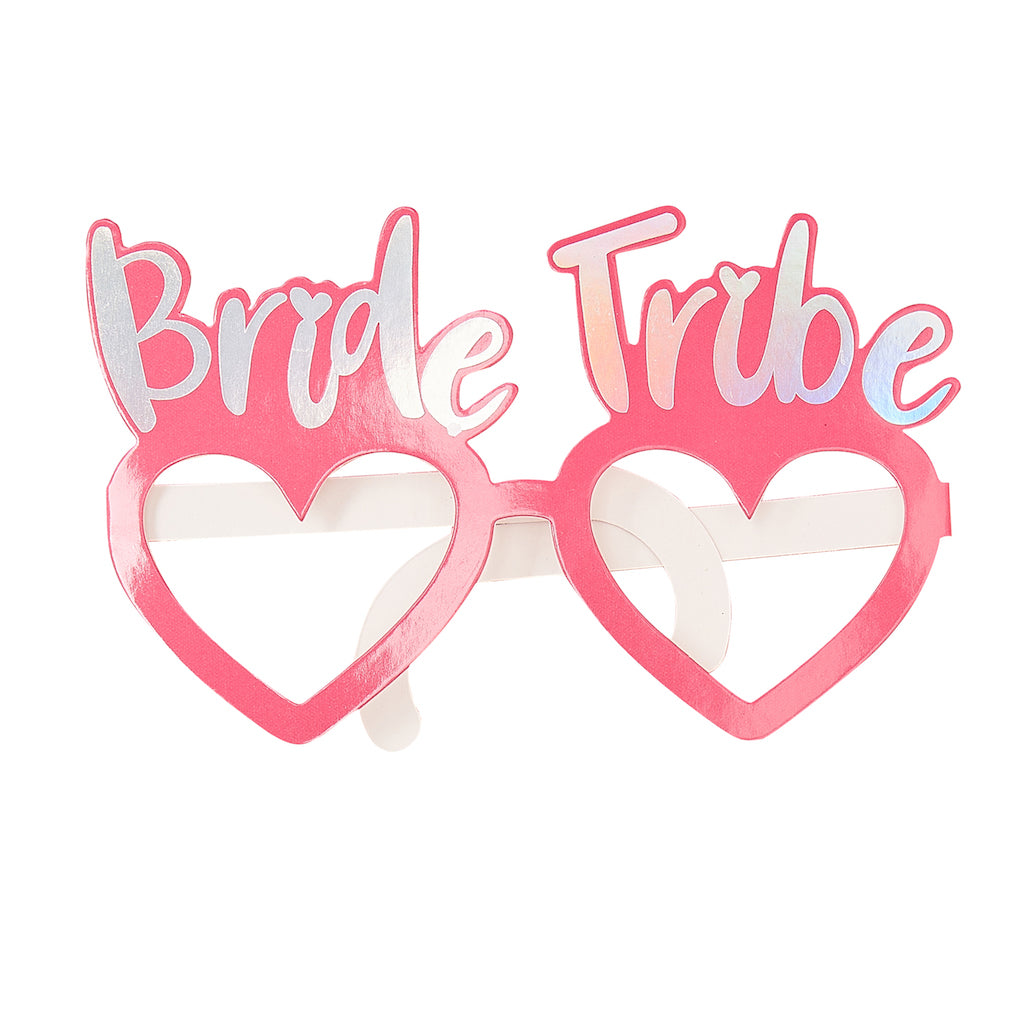BRIDE TRIBE HEN PARTY INDIVIDUAL FUN GLASSES - BRIDE TRIBE
