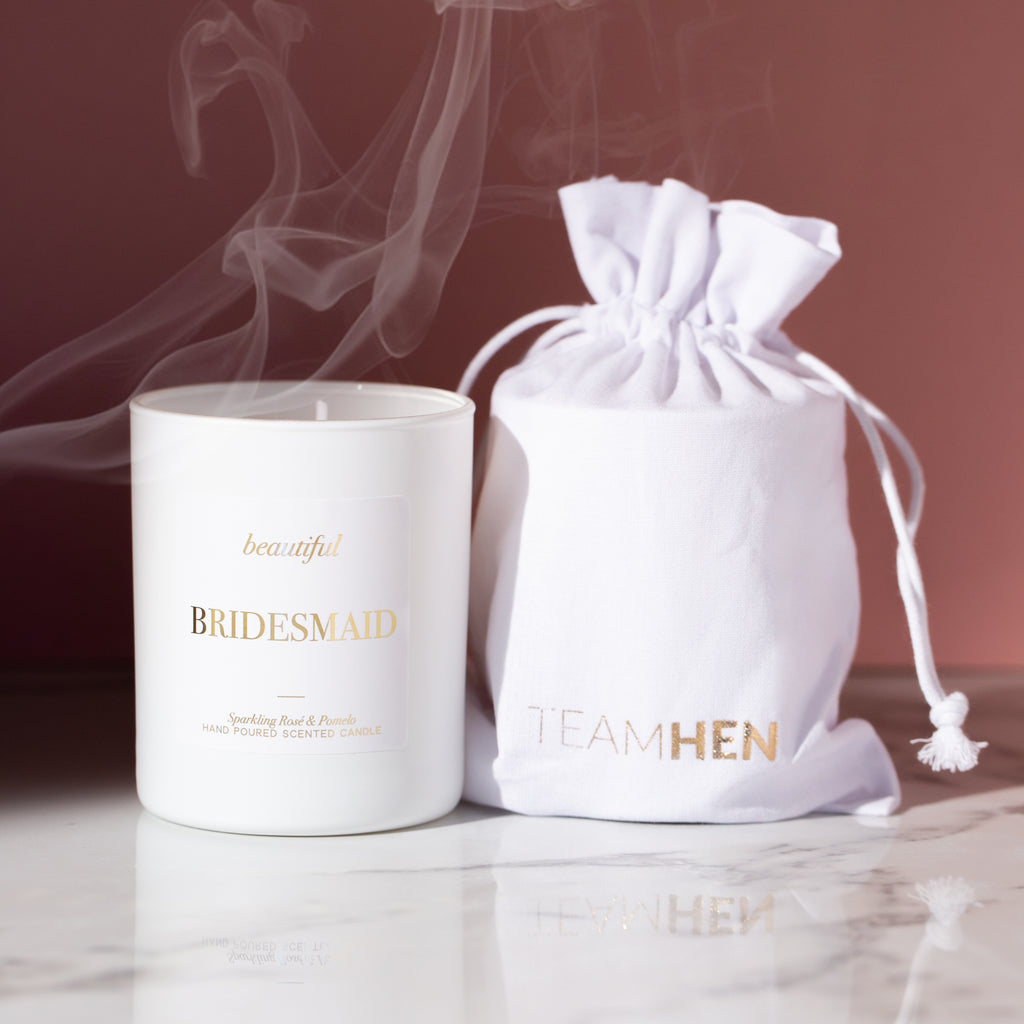 Beautiful Bridesmaid Luxury Candle | Bridesmaid Gift - Team Hen
