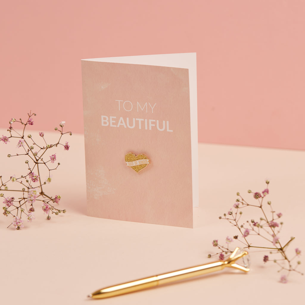 Bridesmaid Card & Lapel Pin