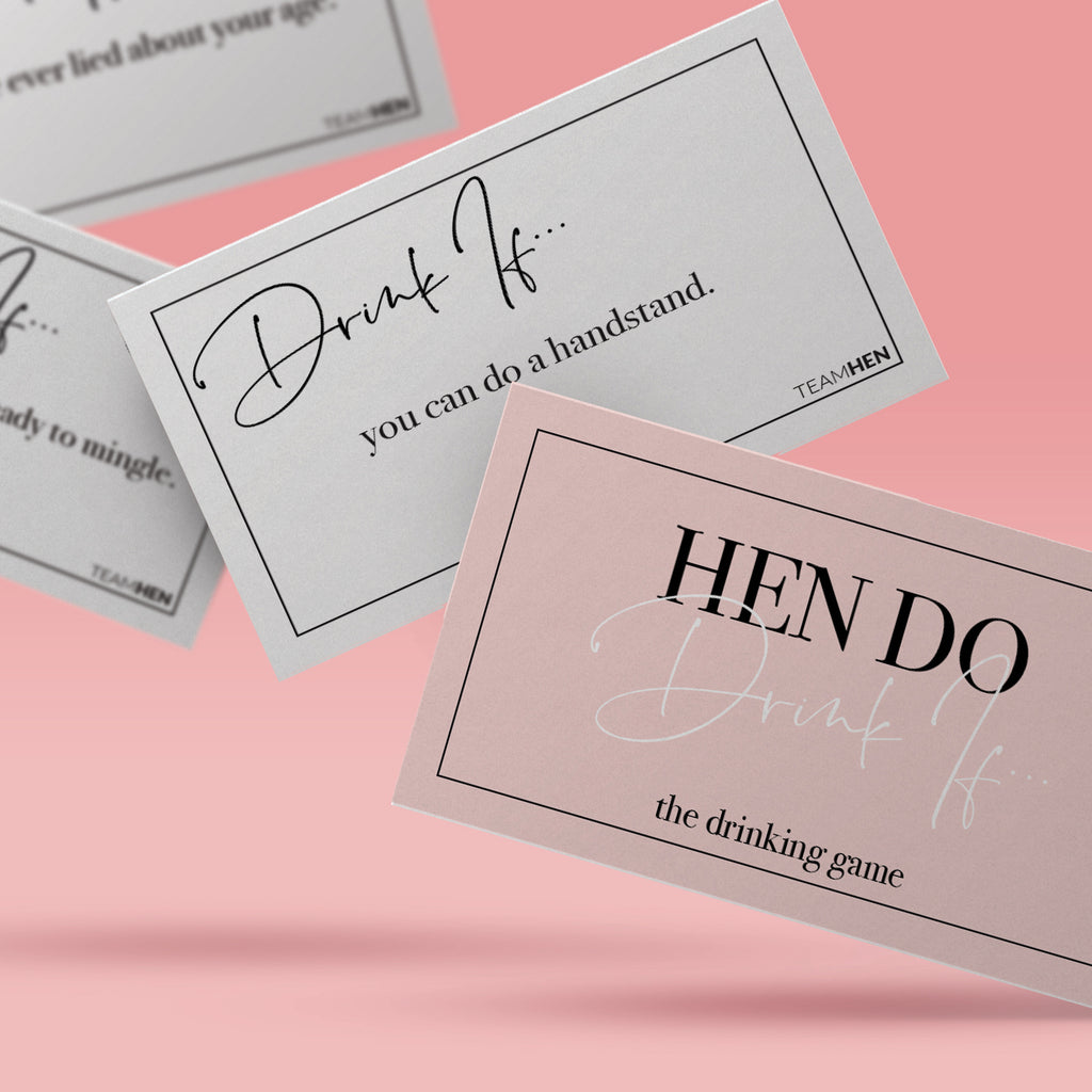 Hen Do Drink If Game | Hen Party Game