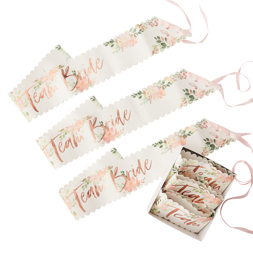 TEAM BRIDE INDIVIDUAL SASH - FLORAL HEN PARTY