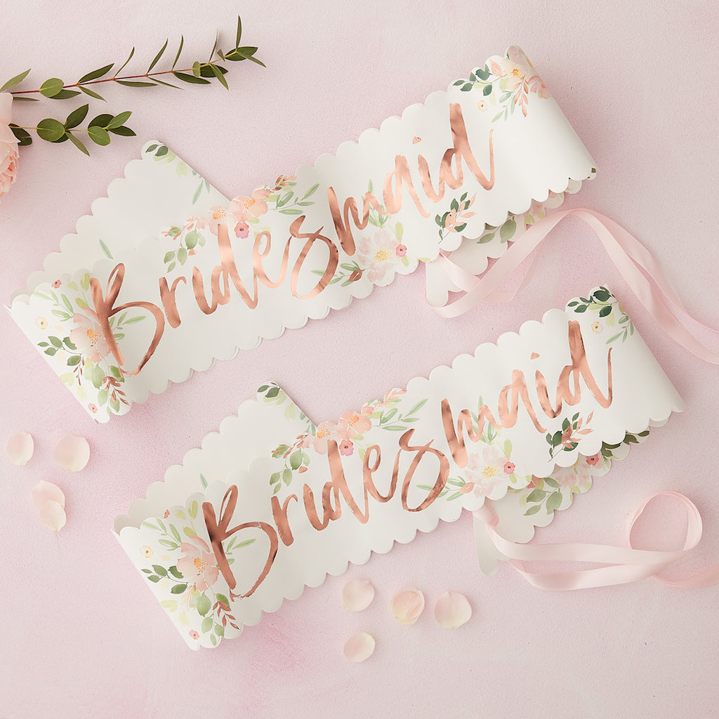 Floral Bridesmaid Sash - Floral Hen Party