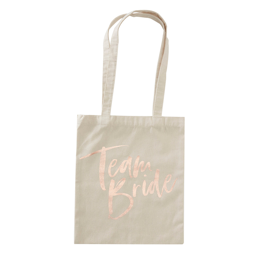 TEAM BRIDE PRINTED TOTE BAG - FLORAL HEN PARTY