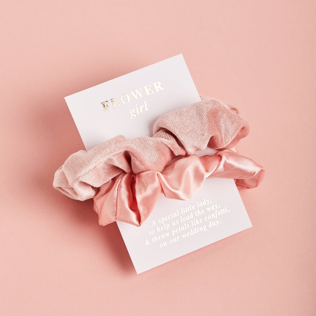 Bridesmaid Scrunchie Duo | Bridesmaid Gifts - Team Hen