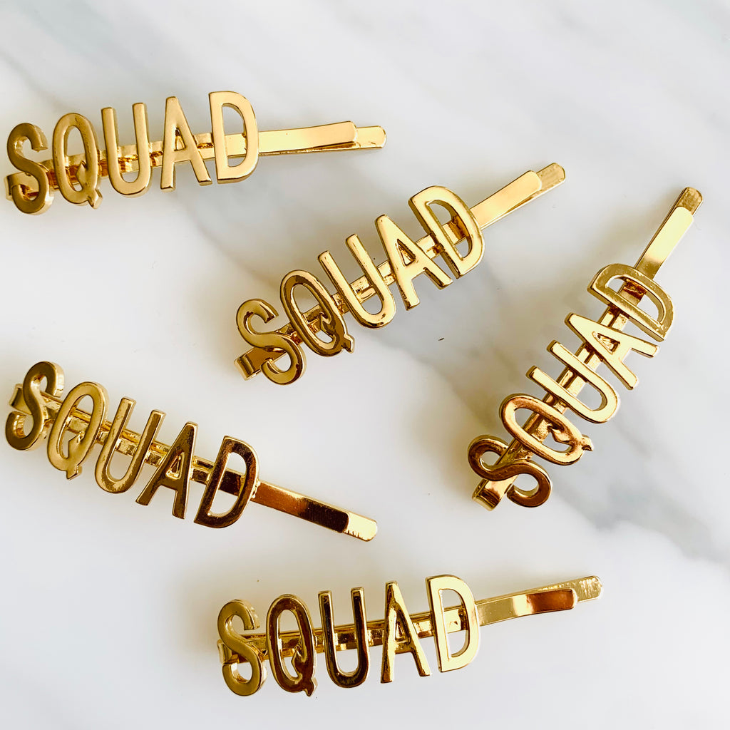 SQUAD Hen Party Hair Slide
