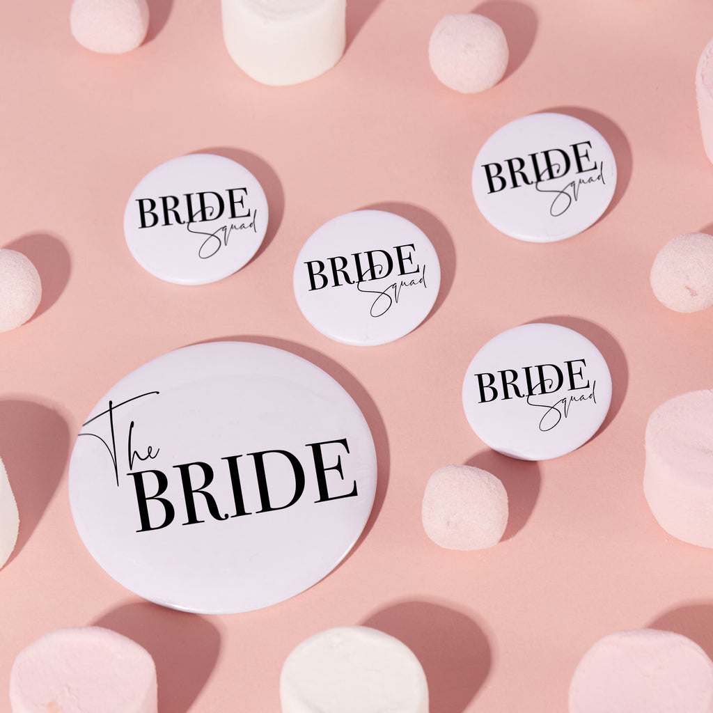 Monochrome Bride Squad Badges