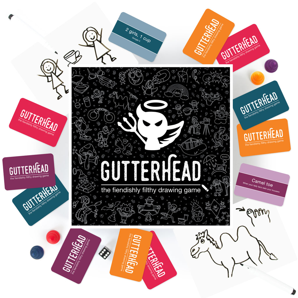 Gutterhead - The Fiendishly Filthy Drawing Game | Hen Party Game - Team Hen