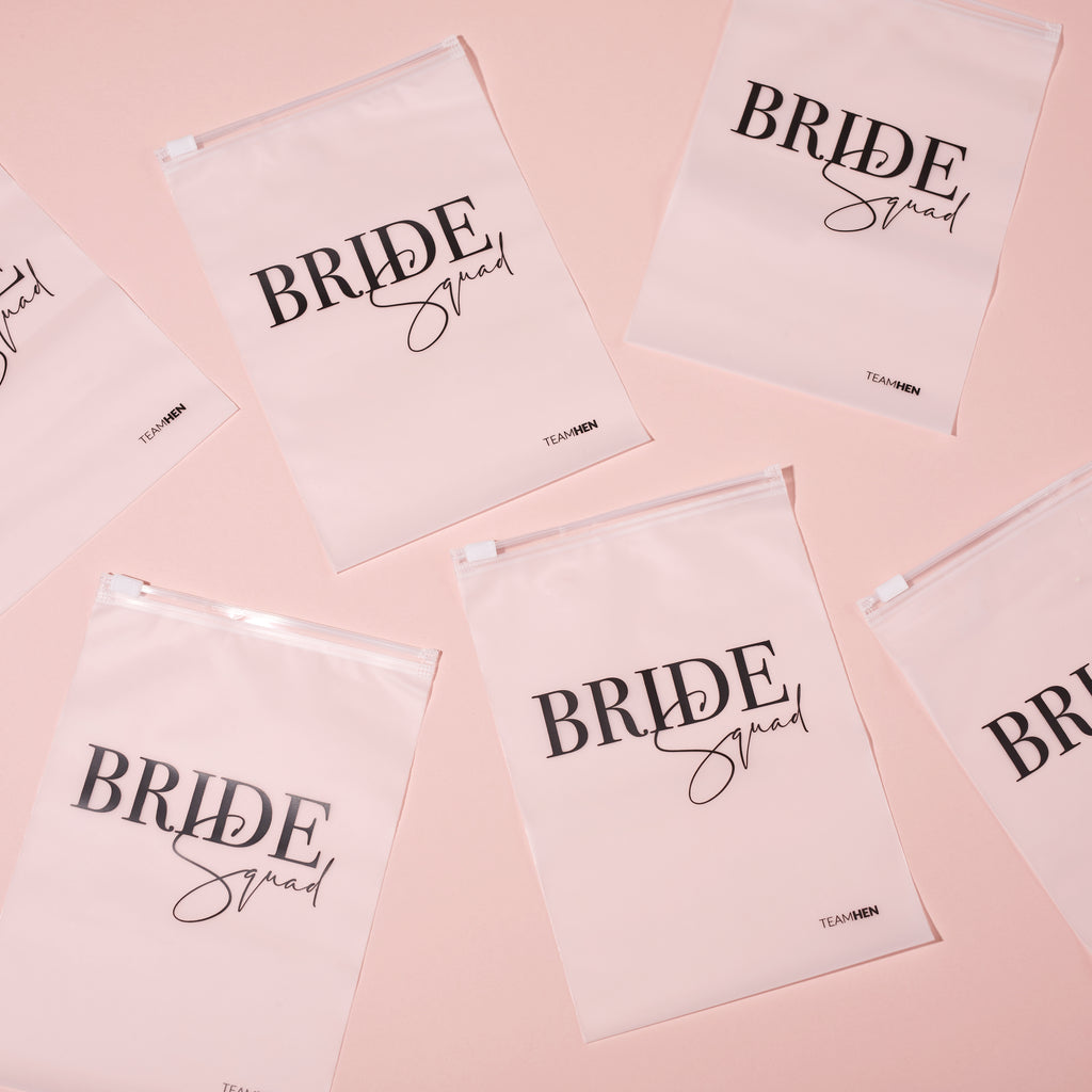 Bride Squad Zipped Pouch | Hen Party Accessories - Team Hen