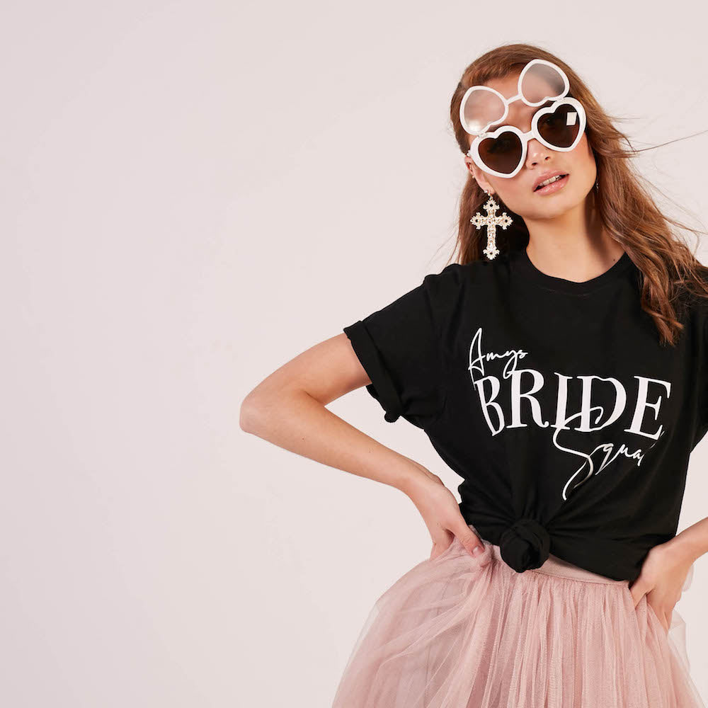 Personalised Bride Squad T-Shirts | Double Sided