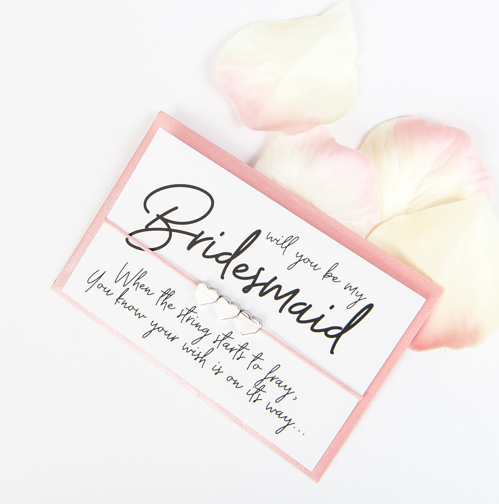Will You Be My Bridesmaid Wish Bracelet | Modern