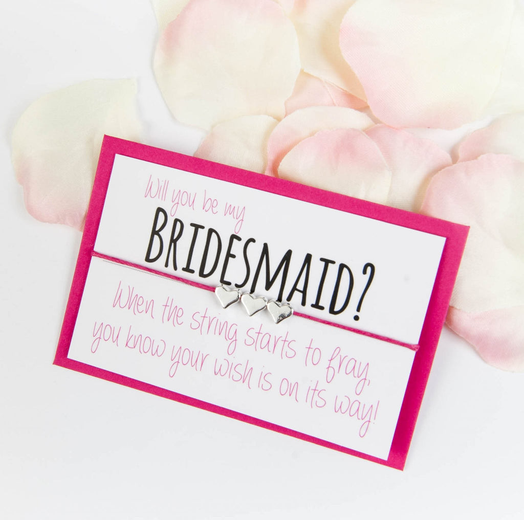 bridesmaid wish bracelet