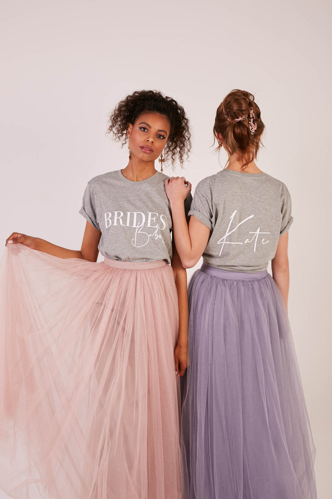 Bride Squad T-Shirts | Double Sided - Team Hen