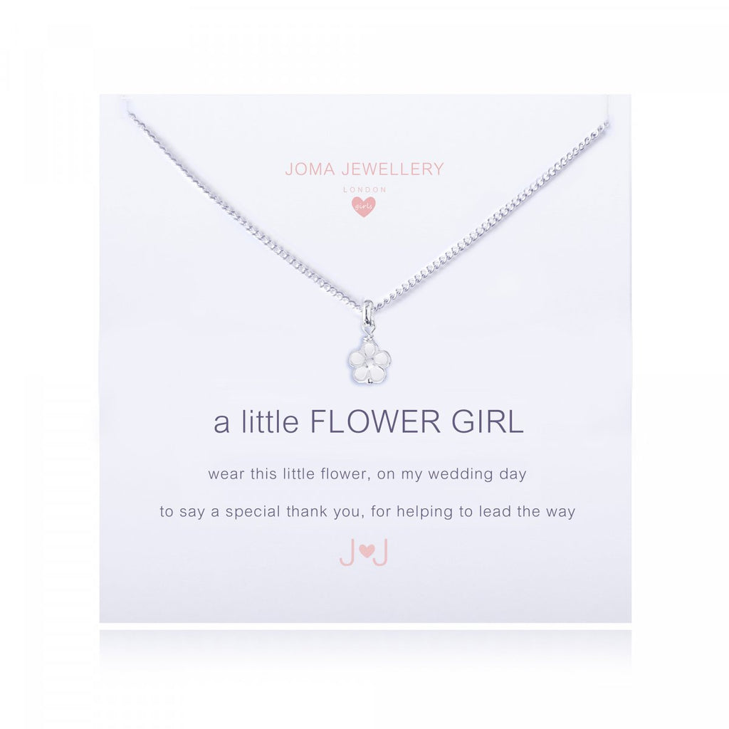 Silver Flower Girl Necklace